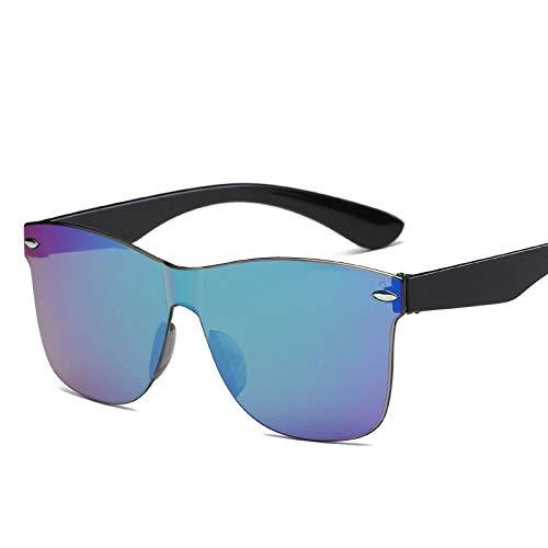 SHANGYUN Gafas de Sol Mujer/Hombre Lente degradada Espejo Retro Sin Montura Gafas de Sol Gafas de Viaje Vintage UV400 Verde