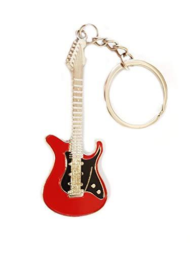 Gitarre Rock E Gitarre Musik Bass Schlüsselanhänger schwarz rot | Geschenk | Männer | Musik |