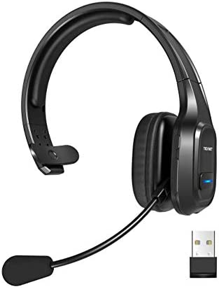 TECKNET Bluetooth Trucker Headset with Microphone Noise Canceling Wireless On Ear Headphones product image