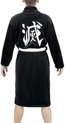 Woman Man Bathrobe Nightgown Cosplay Costume Halloween Cartoon Unisex Pajamas