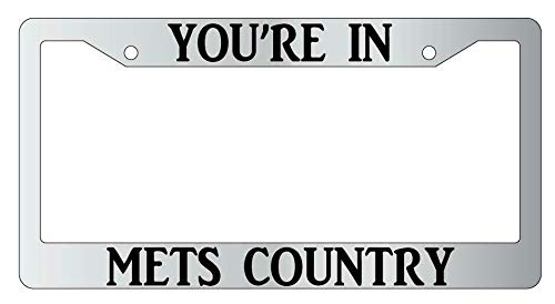 License Plate Frames, You're In Mets Country License Plate Frame Auto Accessory Universal Car License Plate Bracket Holder Rust-Proof Rattle-Proof Weather-Proof 15x30cm