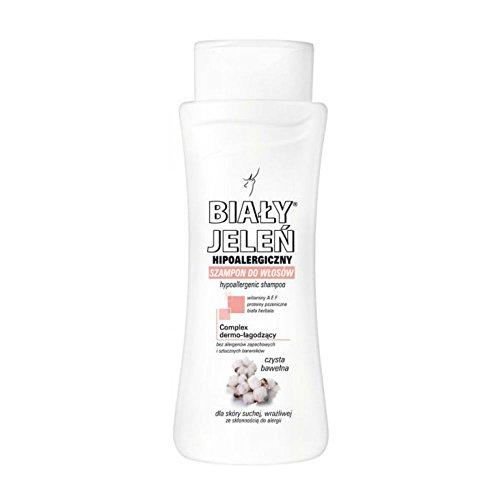 BIALY JELEN - Hipoalergiczny szampon z czystej bawełny - 300 ml