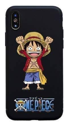 Funda para iPhone 7+ Plus/iPhone 8+ Plus Luffy One Piece Japon Wanted Dessin Animé Carcasa de Moviles Caso Silicón