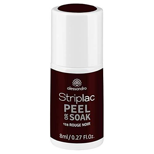 alessandro Striplac Peel or Soak Rouge Noir – LED-Nagellack in dunklem Rot-Schwarz – Für perfekte Nägel in 15 Minuten – 1 x 8ml