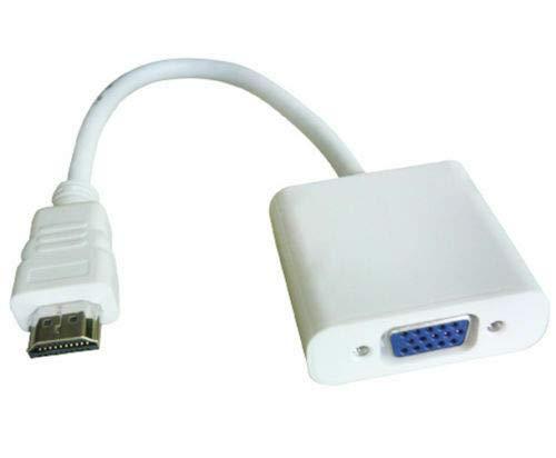 Entrada HD HDMI para salida VGA Cable Convertidor Adaptador para PC DVD TV Monitor