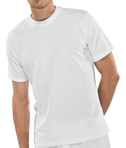 Schiesser 2 Stück American T-Shirt Rundhals Herren T-Shirt - Weiß: Größe: XL (Gr.7)