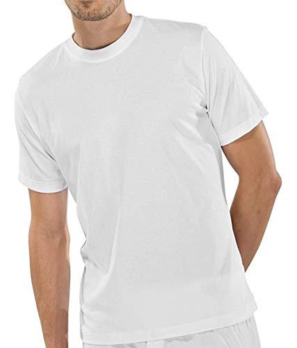 Schiesser 2 Stück American T-Shirt Rundhals Herren T-Shirt - Weiß: Größe: XXXL (Gr.9)