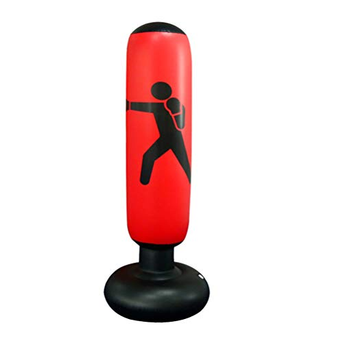 Tricodale Boxsack Kinder, Standboxsack Freistehender Sandsack 160cm Punchingball Aufblasbare Boxsäcke für Kinder, Üben von Karate Taekwondo, MMA