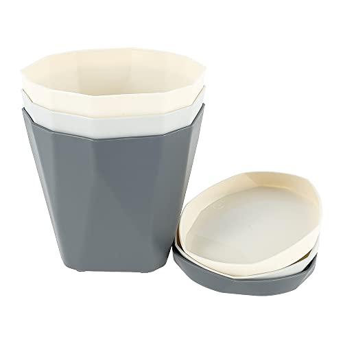 Nul vasi da fiori colorati in plastica stile nordico vaso da giardino in plastica con vassoi e fori di drenaggio ornamenti da giardino per la casa, giardino, fiori e ufficio
