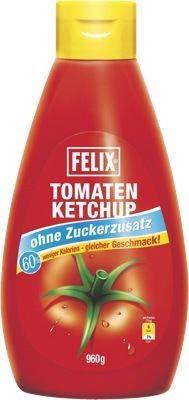 Felix - Ketchup ohne Zuckerzusatz – 6 x 960 g