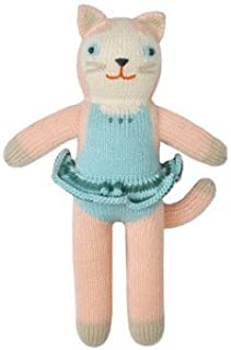 Blabla Splash The Cat Mini Plush Doll - Knit Stuffed Animal for Kids. Cute, Cuddly & Soft Cotton Toy. Perfect, Forever Cherished. Eco-Friendly. Certified Safe & Non-Toxic.