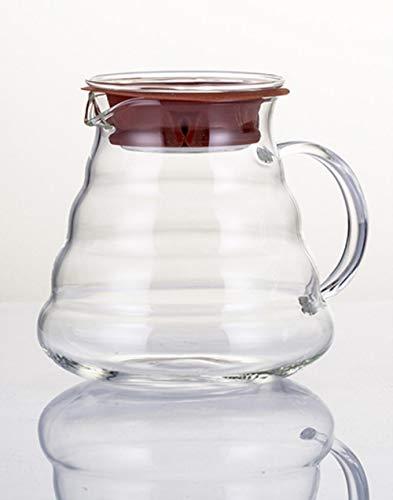 RANJN koffiepot, koffiepot van glas, geïsoleerd handvat, zodat koffie en thee altijd met hete en verse waterkoker worden overgegoten