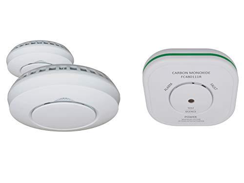 ELRO beveiligingsset: 2 x draadloze rookmelder + CO-melder voor Smart Home Connects System