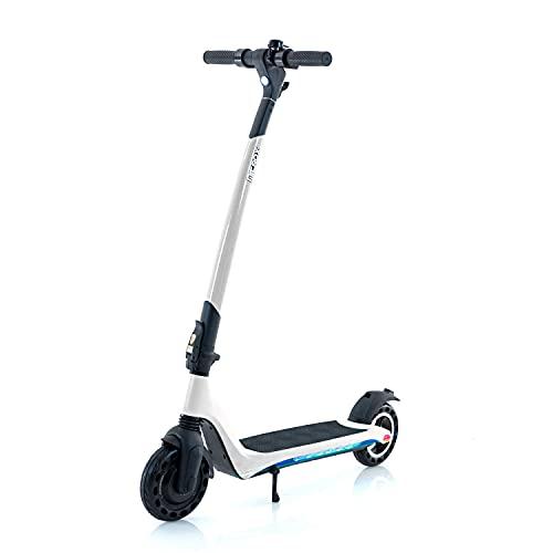 Elscooter elsparkcykel Nitrox Joy V2 250W, 20 km/h, bluetooth, med LED-belysning (Vit)
