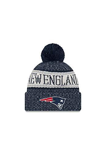 New Era New Era ONF18 Sport Knit Bommelmütze New England Patriots Blau, Size:ONE Size