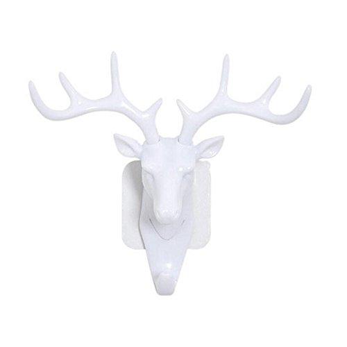 Guangcailun Små plastvägg Rack för vardagsrum Hat Bag Key smycken rack Deer Head Decor Hook Organizer