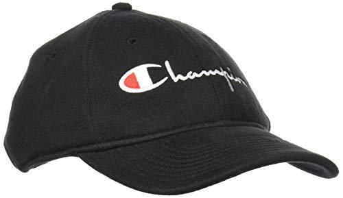 Champion Herren H0914 Baseball Cap, schwarz, Einheitsgröße