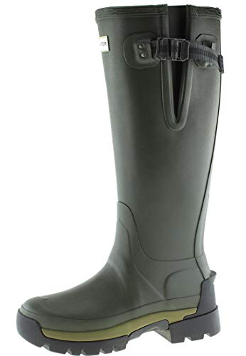HUNTER Balmoral Side Adjustable 2 Olive, Damen Gummistiefel, 38