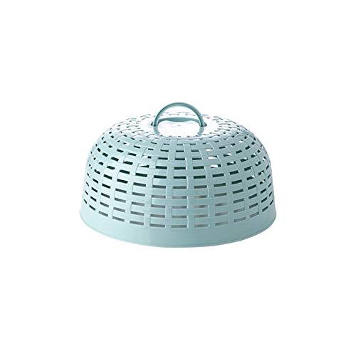 Luckylele Cubierta de malla de alimentos cubierta de alimentos placa de cúpula tapa a prueba de plástico resistente a prueba de polvo placa a prueba de polvo taza de placa protectora protectora anti b
