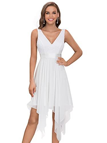 Ever-Pretty Vestidos de Novia para Mujer Corte Imperio Escote en V A-línea...