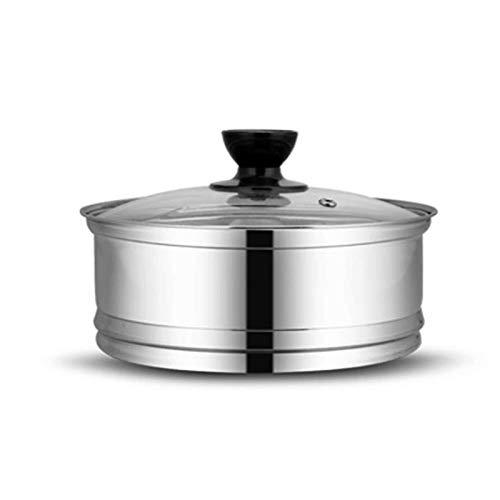 DUDDP Vaporera Vaporizador de Acero Inoxidable con Tapa, Apto for ollas de Caldo/ollas de Sopa/Bandeja de Trabajo, Inserto de vaporizador de Alimentos for Pescado Vegetariano,...
