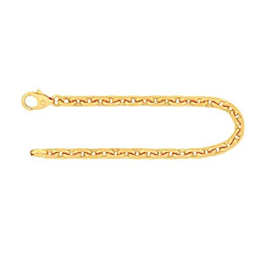 Armband Ankerkette diamantiert Gelbgold 333/8 K, Länge 19 cm, Breite 3.8 mm, Gewicht ca. 12.1 g, NEU