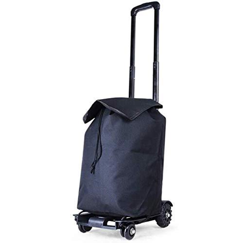 ZHANGYY Carrito pequeño, Ligero, Compacto y Resistente, Puede Llevar una Compra portátil de Cuatro Ruedas para Llevar la Bolsa de Equipaje Carrito de la Compra con Carga de 40 kg