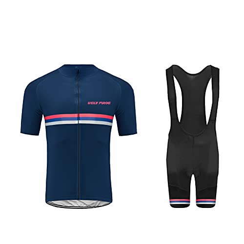 UGLY FROG Estivo Costumi da Ciclismo per Uomini, Completo Ciclismo Uomo Maglia Ciclismo Maniche Corte Squadra Professionale