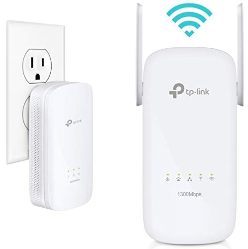 TP-Link AV1300 Powerline WiFi Extender - Powerline Adapter with AC1350 Dual Band WiFi, Gigabit Port, 2X2 MIMO with Beamforming, Plug&Play, Power Saving, Ideal for Smart TV(TL-WPA8630 KIT V2)