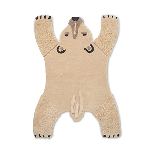 Ferm Living Alfombra con diseño de oso polar