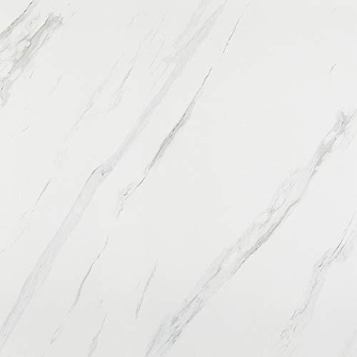 Homye Marmor Folie 40x500cm arbeitsplatte Folie selbstklebend möbelfolie klebefolie PVC wasserdicht dekorfolie für möbel küche Schrank Wand Tür Fenster (weiß)