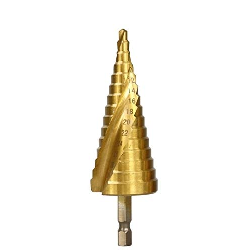 Shenyitool 3pcs 4-12/20 / 32mm HSS spiralgenutet Bohrmeißel VHM Mini Zubehör Bohrer Titanium Schritt Kegel Bohrer Werkzeug (Color : Spiral 4 32)
