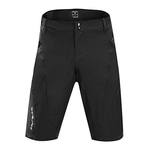 MagiDeal Shorts Cuissard De Vélo, Cyclisme Respirant Séchage Rapide Ultra-Léger Absorbant Sueur pour Adultes - Noir, XXL