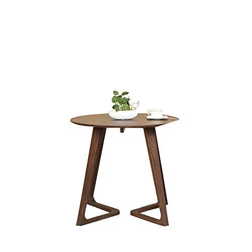 HCYTPL Bijzettafel, robuust, eenvoudige salontafel, van hout, klein, rond, modern, afgeronde hoeken, koffie 60cm B