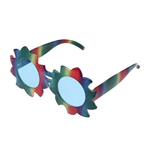 Amosfun Vestir Gafas de Flores de Arco Iris Suministros para Fiestas Favores Gafas Divertidas Sesión de Fotos Accesorios de Carnaval Disfraces de Carnaval