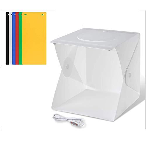 Caja de Luz Fotogrfia Estudio, Estudio LED Plegable, Caja de Luz Portatil...