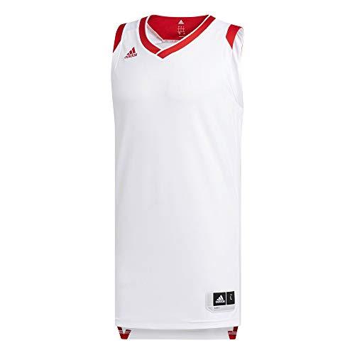 adidas Crzy Explo Jers Camiseta de Tenis de Baloncesto, Hombre, Blanco (Rojpot), S