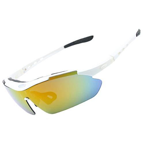 xiaohuozi Conjunto de Gafas de Sol Polarizadas Deportivas Gafas de Conducción de Sombra Cinco Lentes y Marcos de Miopía Adecuado para Conducir Sombras Ciclismo Correr Protección UV