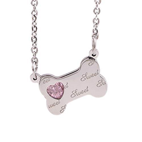 LKYH Titanium Steel Two-Color Clavicle Chain Fashion Bone Pendant Necklace Decorative Necklace