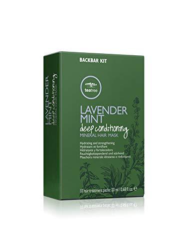 Paul Mitchell Tea Tree Lavender Mint Deep Conditioning Mineral Hair Mask - Feuchtigkeits-Maske für trockenes, geschädigtes Haar, 10x20 ml