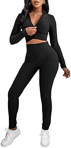 2 piece outfit pants and crop top _image1