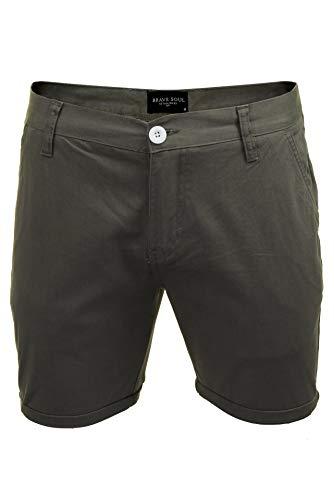 Brave Soul Herren Chino-Shorts (Grau) S