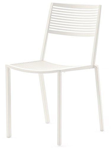 Fast Easy Chaise empilable en Aluminium Art 1503 Couleur Blanc