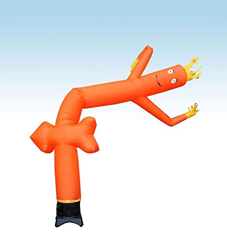 """12' x 12"""" Orange Arrow Dancing Fly Guy - Fun Wacky Waving Inflatable Arm Flailing Tube Man - for Advertising, Promotion and Entertainment"""