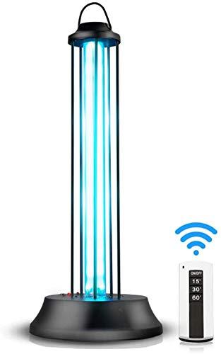 UV-kiemdodend licht, draagbare desinfectie Luchtreiniger 38W Afstandsbediening Sterilisatie Schone lampen voor keuken Badkamer School Hotel Huisdiergebied
