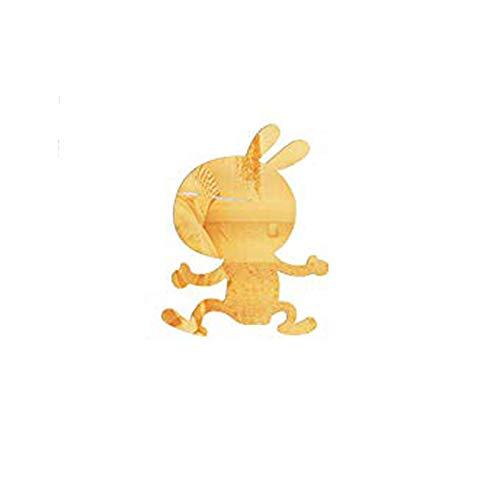 3D Stereo Niedlichen Kaninchen Spiegel Aufkleber Kinderzimmer Gang Schlafzimmer Hintergrund Wandaufkleber, Golden