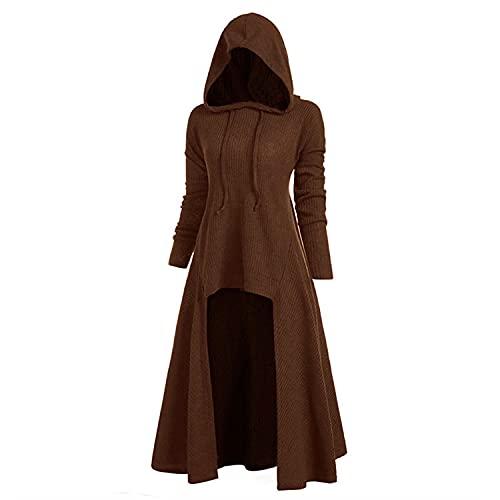 Aiserkly – Capa con capucha para mujer, blusa de manga larga, estampado en espiral, de alta calidad, para Halloween, cosplay, carnaval, disfraces, suéter rojo M