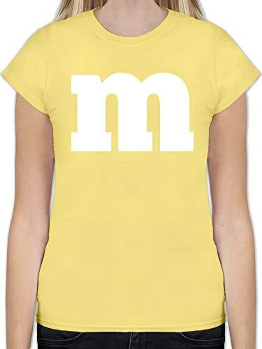 Karneval & Fasching - Gruppen-Kostüm m Aufdruck - L - Lemon Gelb - L191 - Tailliertes Tshirt für Damen und Frauen T-Shirt