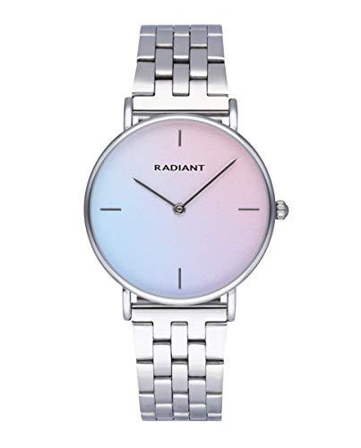 Reloj analógico para Mujer de Radiant. Colección Pacific Blue. Reloj Plateado con Brazalete y Esfera degradada de Azul a Rosa. 3ATM. 36mm. Referencia RA549201.