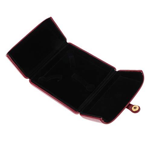 N/A/a Caja de Regalo Abierta Doble del Caso del Almacenamiento de La Joyería del Cuero de La PU de Lujo con La Hebilla, La Seguridad Y El Artículo - Vino Rojo, Caja de Pulsera